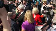 Newt Gingrich & His Third Wife Callista Stock Footage