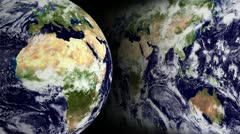 Blue Marble Globe and Map Loop Stock Footage