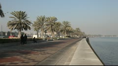 Corniche in Doha, Qatar - stock footage