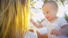 Cute Young Child Outdoors Stock Footage