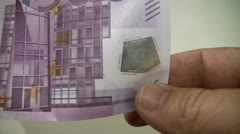 500 euro hologram Stock Footage