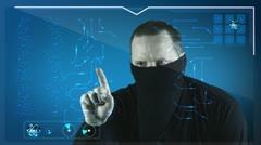 Modern Hacker Stock Footage