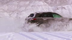 Car in winter Stock Footage