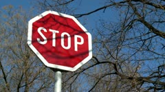 Stop sign 8 - stock footage