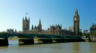 Stock Video Footage of Houses of Parliament in London