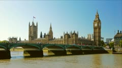 Houses of Parliament in London - stock footage