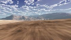 CG Terrain Flight 005 (1080p 29.97) Stock Footage
