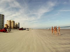 Daytona Beach drive Stock Footage