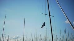 Pirate Flag on Boat Stock Footage