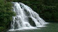 Stock Video Footage of Owaroha falls side on