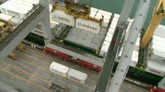View from Gantry crane Stock Footage