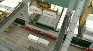Stock Video Footage of View from Gantry crane