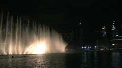 The Dubai fountain playing with water, light and sound Stock Footage