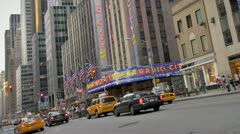6th Ave Traffic Stock Footage