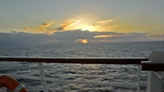 Stock Video Footage of sunset from a cruiser
