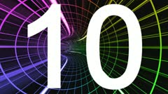 Countdown to the high-speed multicolored tunnel Stock Footage