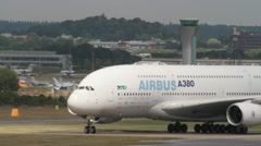 Airbus A380 aircraft - stock footage