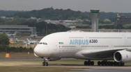 Stock Video Footage of Airbus A380 aircraft