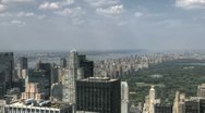 Central Park HDR Aerial Stock Footage