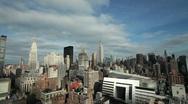 New York Manhattan super Wide tilt down Stock Footage