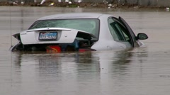 Stock Video Footage of Weather - Flooding - Submerged Cars