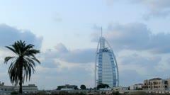 Burj al Arab hotel time lapse Stock Footage