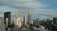 New York Manhattan midtown Empire State building Medium tilt down Stock Footage