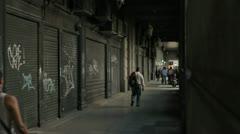 Buenos Aires graffiti waliking Stock Footage