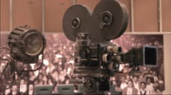 Old Hollywood camera Stock Footage