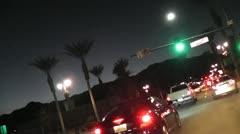 ROAD2PALMSPRINGS-0072 TIMELAPSE DRIVING PALM SPRINGS Stock Footage