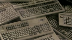 Keyboard Junks Stock Footage