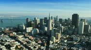 Stock Video Footage of Aerial view of the Transamerica Pyramid building, San Francisco, USA