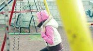 Girl on swing 2 Stock Footage