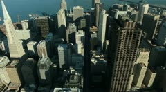 Aerial view of San Francisco and Oakland Bay Bridge, USA Stock Footage
