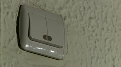Light switch Stock Footage