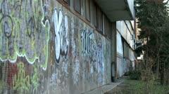 Graffiti on a street wall 1 Stock Footage