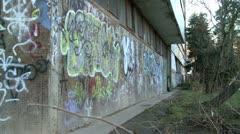 Graffiti on a street wall 4 Stock Footage