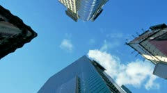 Skyscrapers and Sky Stock Footage