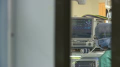 Vitals monitor during surgery (1 of 4) Stock Footage