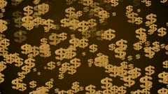 Falling dollar signs - stock footage