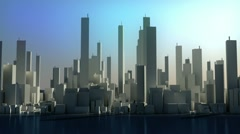 Time lapse concept - city panorama - stock footage