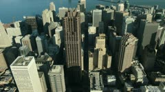 Aerial view of downtown San Francisco centre, USA  Stock Footage