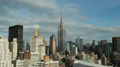 New York City Manhattan Midtown Empire State building Medium tilt down 24P Stock Footage