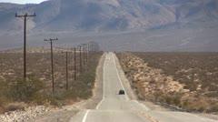 ROAD2VEGAS-0031 CARS ON DESERT HIGHWAY - stock footage