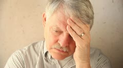 Depressed older man Stock Footage