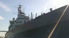 Warship - stock footage