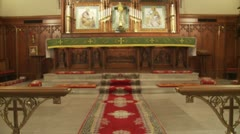 Cathedral altar Stock Footage