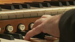 Stock Video Footage of pipe organist tight hand shot (untrimmed)