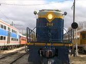 Front of a Train Engine Stock Footage