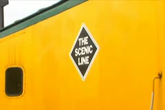 The Scenic Line Train Car Stock Footage